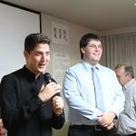 日本語スピーチコンテスト優勝者 アルタン・トースン氏(写真左)、マックス・ネヴェクロフスキ氏(写真右)スピーチ