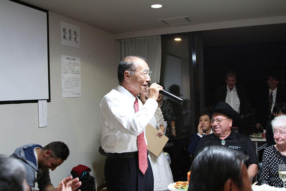 トリアー独日協会訪問団および全ドイツ日本語スピーチコンテスト2016優勝者 来日歓迎会(香川)