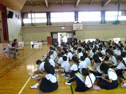 太田小にて講演
