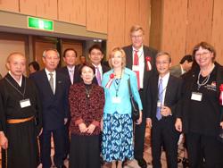 Party nach Wettbewerb. Mit Oberpriester des Daianji und Präsidenten der Nara JDG Herrn  Ryobun Kono