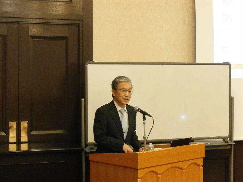 千代田区倫理法人会モーニングセミナー講演風景