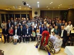 シュタンツェル大使歓迎会&出版記念祝賀会 集合写真